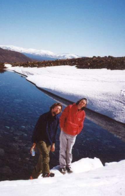 Джони Курбач и Телемарк на фоне далеких Хибин
