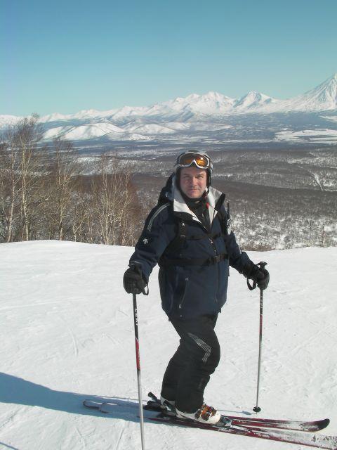 Вид на вулканы с горы Морозная