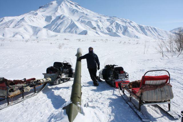Лавинная пушка на Вилючинском вулкане