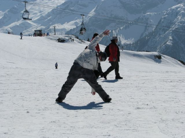 Перед 1м спуском с Ахорна...нужна подобающая форма))) Австрия,2011