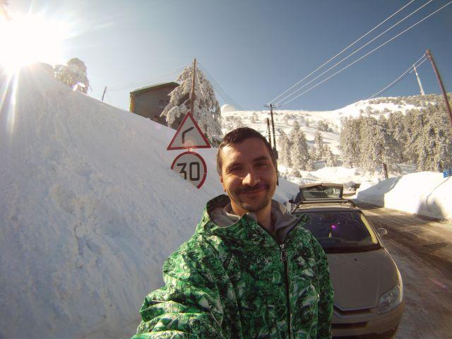 Снег в горах Кипра