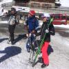 На лыжах