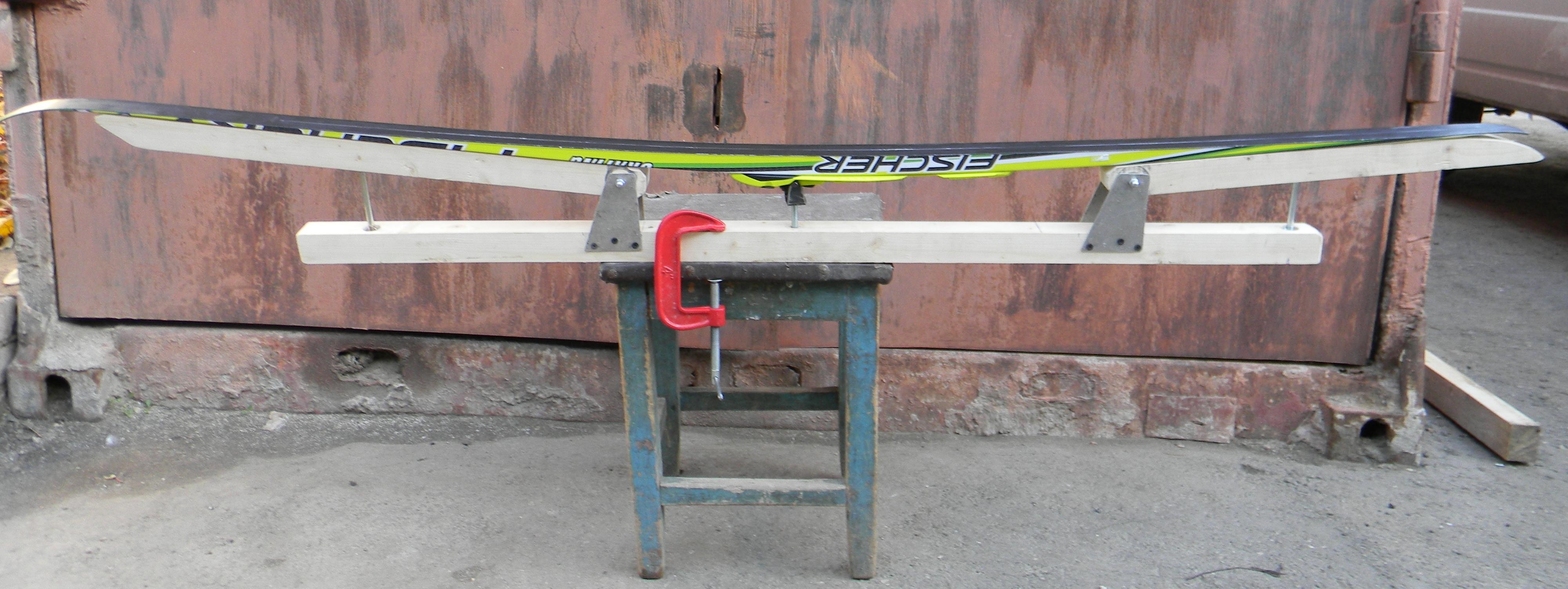 Чертеж станка для подготовки лыж своими руками