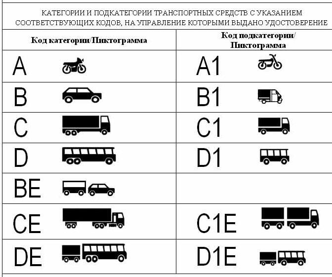категория в1 что это за категория и на каком виде транспорта можно передвигатся